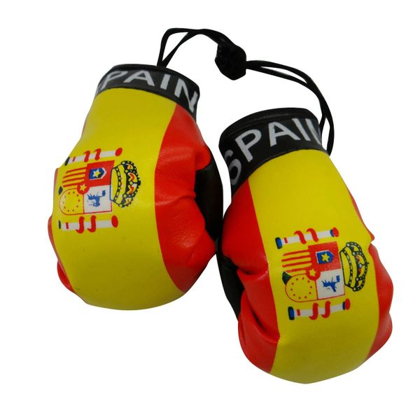 SPAIN COUNTRY FLAG MINI BOXING GLOVERS .. HIGH QUALITY .. NEW AND IN A PACKAGE