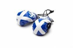 SCOTLAND - ST. ANDREW CROSS COUNTRY FLAG MINI BOXING GLOVERS .. HIGH QUALITY .. NEW AND IN A PACKAGE