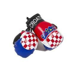 CROATIA COUNTRY FLAG MINI BOXING GLOVERS .. HIGH QUALITY .. NEW AND IN A PACKAGE