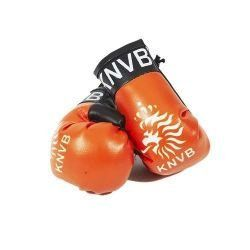 NETHERLANDS ORANGE KNVB LOGO FIFA WORLD CUP MINI BOXING GLOVERS .. HIGH QUALITY .. NEW AND IN A PACKAGE