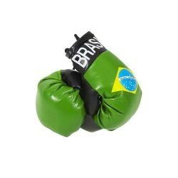 BRASIL COUNTRY FLAG MINI BOXING GLOVERS .. HIGH QUALITY .. NEW AND IN A PACKAGE
