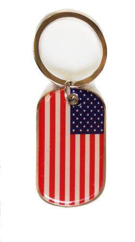 USA COUNTRY FLAG METAL KEYCHAIN .. NEW AND IN A PACKAGE