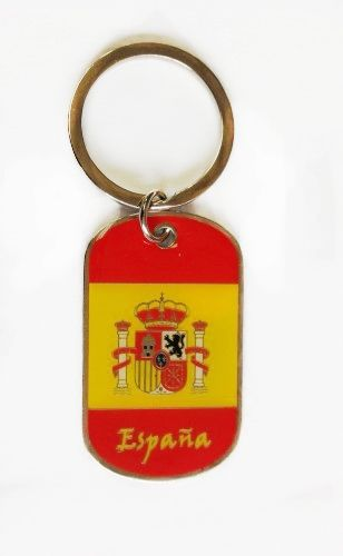 ESPANA SPAIN COUNTRY FLAG METAL KEYCHAIN .. NEW AND IN A PACKAGE