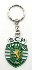 SCP SPORTING PORTUGAL METAL KEYCHAIN .. NEW AND IN A PACKAGE