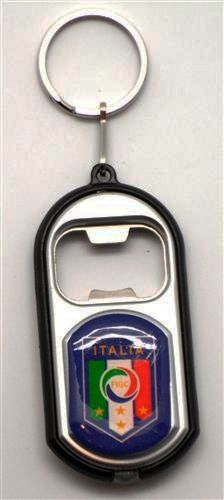 ITALIA ITALY FIGC LOGO LED LIGHT & BOTTLE OPENER METAL KEYCHAIN .. NEW AND IN A PACKAGE