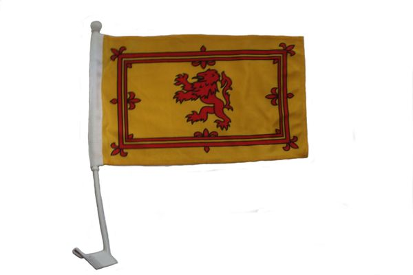 """SCOTLAND RAMPANT LION COUNTRY CAR HEAVY DUTY FLAG ..12"""" X 18"""" INCHES .. NEW AND IN A PACKAGE"""