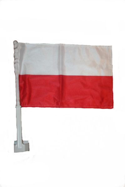 """POLAND COUNTRY CAR HEAVY DUTY FLAG ..12"""" X 18"""" INCHES .. NEW AND IN A PACKAGE"""