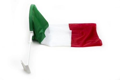 """ITALY COUNTRY CAR HEAVY DUTY FLAG .. 12"""" X 18"""" INCHES .. NEW AND IN A PACKAGE"""