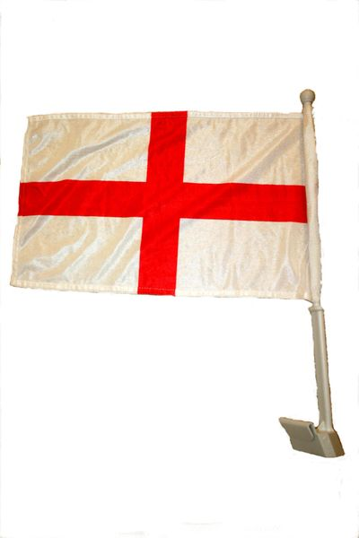 """ENGLAND COUNTRY CAR HEAVY DUTY FLAG .. 12"""" X 18"""" INCHES .. NEW AND IN A PACKAGE"""
