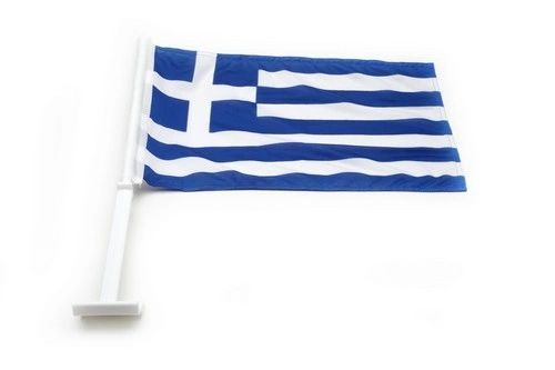 "GREECE COUNTRY CAR HEAVY DUTY FLAG .. 12"" X 18"" INCHES .. NEW AND IN A PACKAGE"