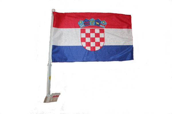 "CROATIA COUNTRY CAR HEAVY DUTY FLAG .. 12"" X 18"" INCHES .. NEW AND IN A PACKAGE"