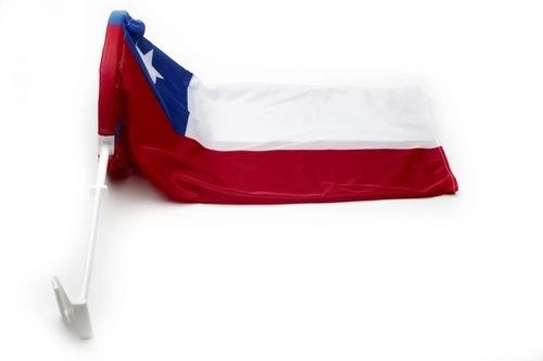 """CHILE COUNTRY CAR HEAVY DUTY FLAG .. 12"""" X 18"""" INCHES .. NEW AND IN A PACKAGE"""