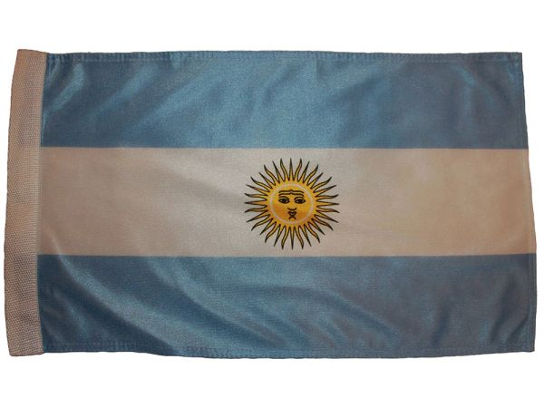 "ARGENTINA COUNTRY HEAVY DUTY FLAG WITH SLEEVE WITHOUT STICK ..12"" X 18"" INCHES .. NEW AND IN A PACKAGE"