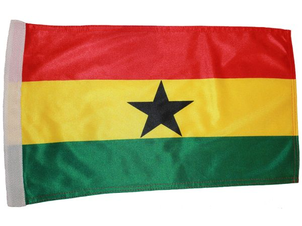 "GHANA COUNTRY HEAVY DUTY FLAG WITH SLEEVE WITHOUT STICK .. 12"" X 18"" INCHES .. NEW AND IN A PACKAGE"