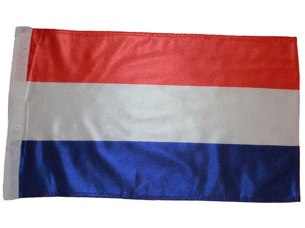 "NETHERLANDS COUNTRY HEAVY DUTY FLAG WITH SLEEVE WITHOUT STICK .. 12"" X 18"" INCHES .. NEW AND IN A PACKAGE"
