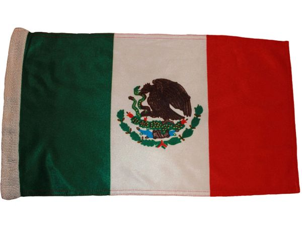 "MEXICO COUNTRY HEAVY DUTY FLAG WITH SLEEVE WITHOUT STICK .. 12"" X 18"" INCHES .. NEW AND IN A PACKAGE"