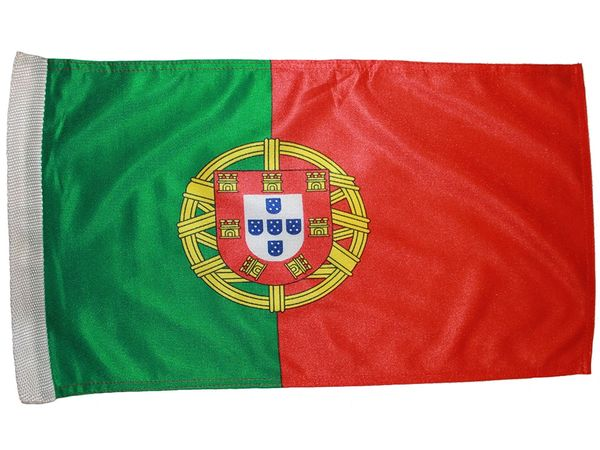 "PORTUGAL COUNTRY HEAVY DUTY FLAG WITH SLEEVE WITHOUT STICK .. 12"" X 18"" INCHES .. NEW AND IN A PACKAGE"