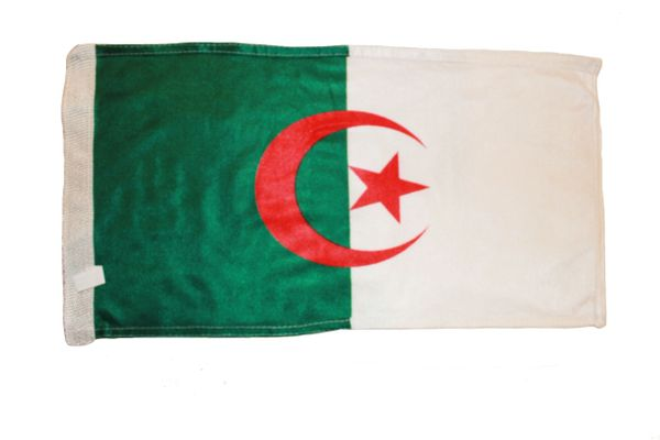 """ALGERIA COUNTRY HEAVY DUTY FLAG WITH SLEEVE WITHOUT STICK .. 12"""" X 18"""" INCHES .. NEW AND IN A PACKAGE"""