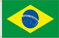BRASIL LARGE 3' X 5' FEET COUNTRY FLAG BANNER .. NEW AND IN A PACKAGE