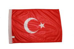 "TURKEY COUNTRY HEAVY DUTY FLAG WITH SLEEVE WITHOUT STICK .. 12"" X 18"" INCHES .. NEW AND IN A PACKAGE"