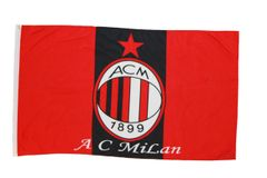 A.C. MILAN 3' X 5' FEET SOCCER FLAG BANNER .. NEW AND IN A PACKAGE