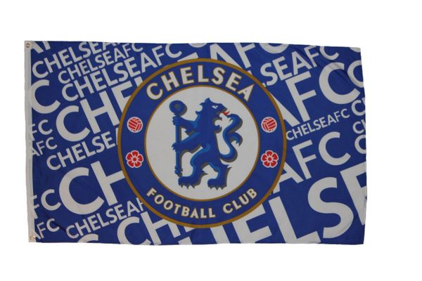 CHELSEA 3' X 5' FEET SOCCER FLAG BANNER .. NEW AND IN A PACKAGE