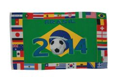 BRASIL 2014 - COUNTRY' 3' X 5' FEET FIFA SOCCER WORLD CUP FLAG BANNER .. NEW AND IN A PACKAGE