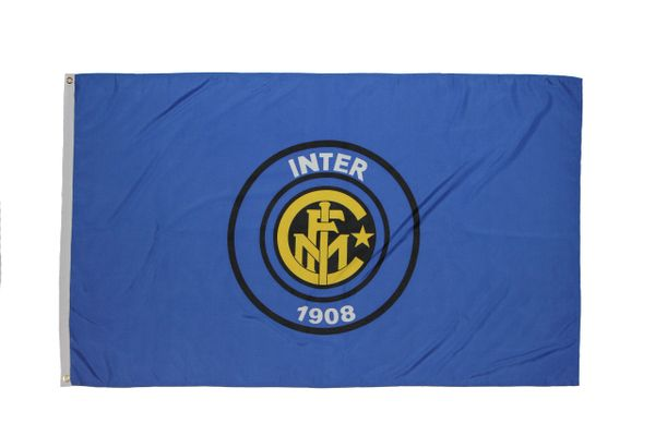 INTER 3' X 5' FEET SOCCER FLAG BANNER .. NEW AND IN A PACKAGE