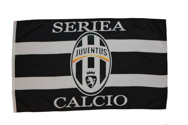 JUVENTUS 3' X 5' FEET SOCCER FLAG BANNER .. NEW AND IN A PACKAGE