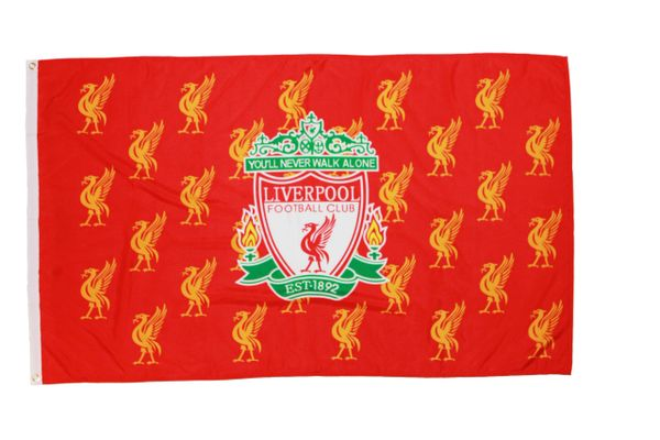 LIVERPOOL 3' X 5' FEET SOCCER FLAG BANNER .. NEW AND IN A PACKAGE