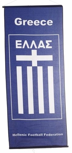 """GREECE HELLAS COUNTRY FLAG 46"""" X 20"""" INCHES FLAG BANNER .. NEW AND IN A PACKAGE"""