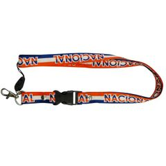 """""""NACIONAL"""" SOCCER LANYARD KEYCHAIN PASSHOLDER NECKSTRAP .. CLASP AT THE END .. 24"""" INCHES LONG .. HIGH QUALITY .. NEW AND IN A PACKAGE"""