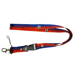 """""""VLLAZNIA"""" SOCCER LANYARD KEYCHAIN PASSHOLDER NECKSTRAP .. CLASP AT THE END .. 24"""" INCHES LONG .. HIGH QUALITY .. NEW AND IN A PACKAGE"""