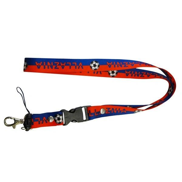 """VLLAZNIA"" SOCCER LANYARD KEYCHAIN PASSHOLDER NECKSTRAP .. CLASP AT THE END .. 24"" INCHES LONG .. HIGH QUALITY .. NEW AND IN A PACKAGE"