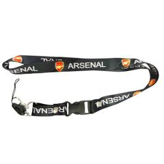"ARSENAL LOGO SOCCER LANYARD KEYCHAIN PASSHOLDER NECKSTRAP .. CLASP AT THE END .. 24"" INCHES LONG .. HIGH QUALITY .. NEW AND IN A PACKAGE"