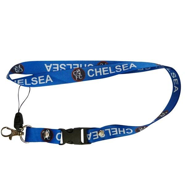 "CHELSEA LOGO SOCCER LANYARD KEYCHAIN PASSHOLDER NECKSTRAP .. CLASP AT THE END .. 24"" INCHES LONG .. HIGH QUALITY .. NEW AND IN A PACKAGE"