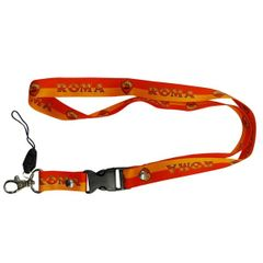 "ROMA LOGO SOCCER LANYARD KEYCHAIN PASSHOLDER NECKSTRAP .. CLASP AT THE END .. 24"" INCHES LONG .. HIGH QUALITY .. NEW AND IN A PACKAGE"