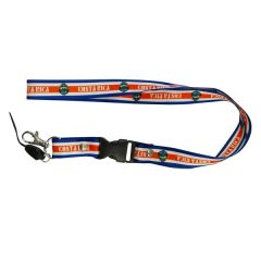 """COSTA RICA COUNTRY FLAG LANYARD KEYCHAIN PASSHOLDER NECKSTRAP .. CLASP AT THE END .. 24"""" INCHES LONG .. HIGH QUALITY .. NEW AND IN A PACKAGE"""