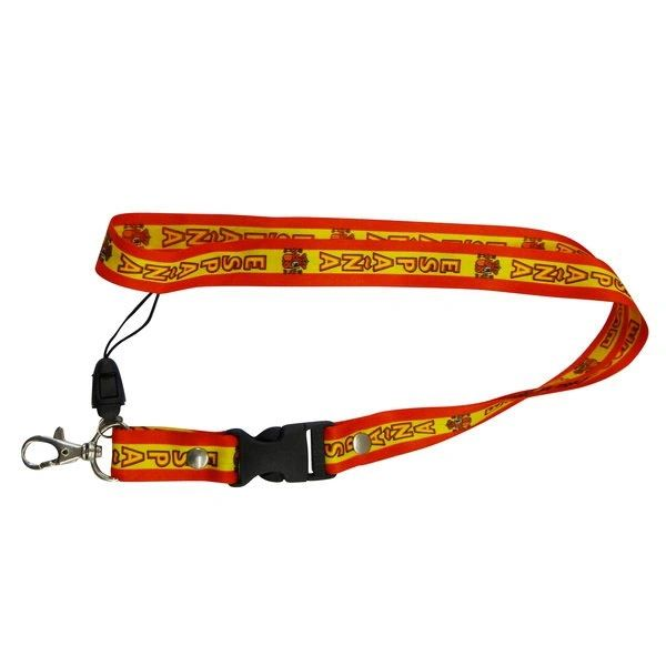 "ESPANA SPAIN COUNTRY FLAG LANYARD KEYCHAIN PASSHOLDER NECKSTRAP .. CLASP AT THE END .. 24"" INCHES LONG .. HIGH QUALITY .. NEW AND IN A PACKAGE"