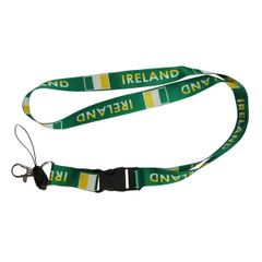"IRELAND COUNTRY FLAG LANYARD KEYCHAIN PASSHOLDER NECKSTRAP .. CLASP AT THE END .. 24"" INCHES LONG .. HIGH QUALITY .. NEW AND IN A PACKAGE"