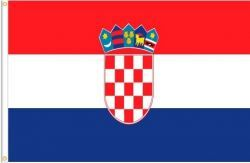 CROATIA LARGE 3' X 5' FEET COUNTRY FLAG BANNER .. NEW AND IN A PACKAGE