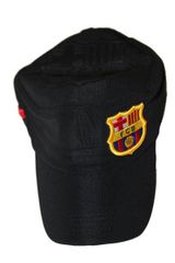 BARCELONA BLACK FCB LOGO SOCCER MILITARY STYLE HAT CAP .. NEW