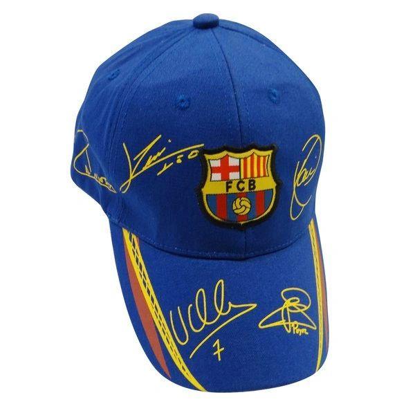 BARCELONA BLUE FCB LOGO SOCCER EMBOSSED HAT CAP .. NEW