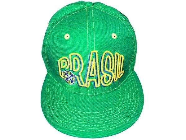BRASIL GREEN SNAPBACK CBF LOGO FIFA SOCCER WORLD CUP HIP HOP CAP .. NEW