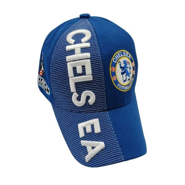 CHELSEA BLUE WITH LOGO SOCCER EMBOSSED HAT CAP .. NEW