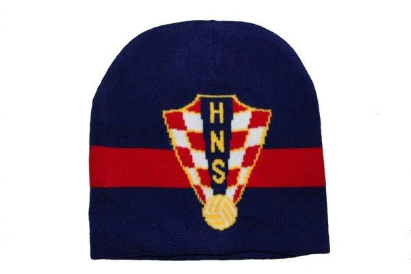 CROATIA BLUE RED HNS LOGO FIFA SOCCER WORLD CUP TOQUE HAT .. NEW