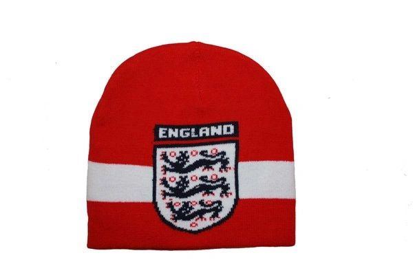 ENGLAND 3 LIONS RED WHITE FIFA SOCCER WORLD CUP TOQUE HAT .. NEW