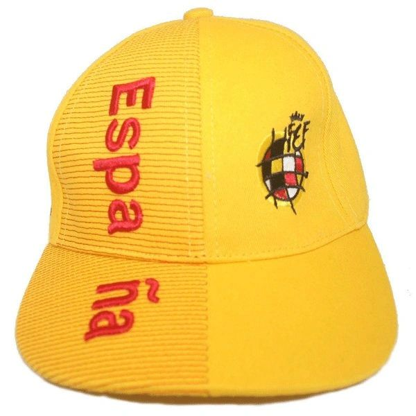ESPANA SPAIN YELLOW FIFA SOCCER WORLD CUP EMBOSSED HAT CAP. FOR KIDS AGES : 6 - 10 YEARS OLD .. .. HIGH QUALITY .. NEW