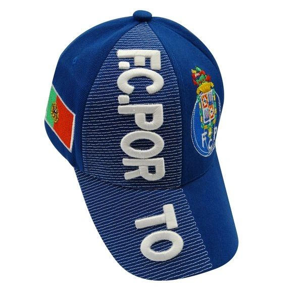 F.C. PORTO BLUE COUNTRY FLAG WITH LOGO FIFA SOCCER WORLD CUP EMBOSSED HAT CAP .. HIGH QUALITY .. NEW