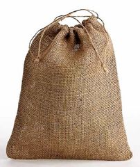 Jute/Hessian Drawstring Bags, available in 7 sizes,